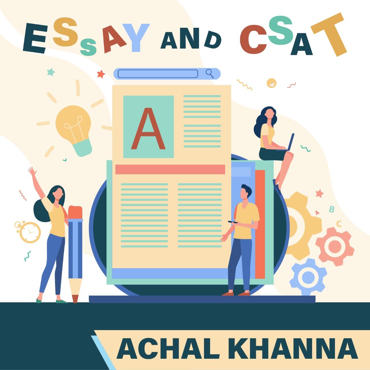 Achal Khanna - ESSAY