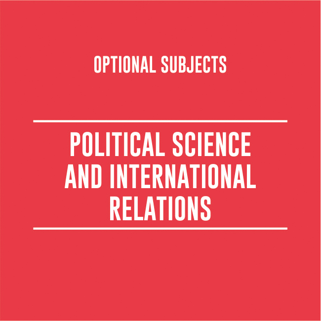 POLITICAL SCIENCE & INTERNATIONAL RELATIONS